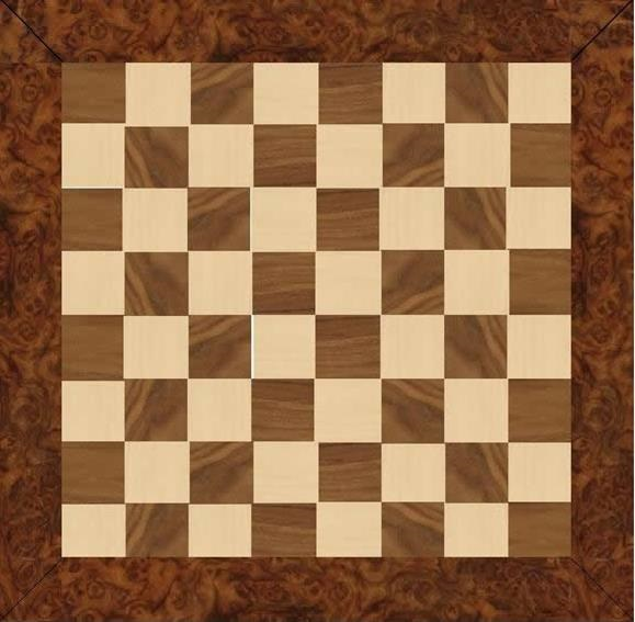 Chess Board Maple Walnut