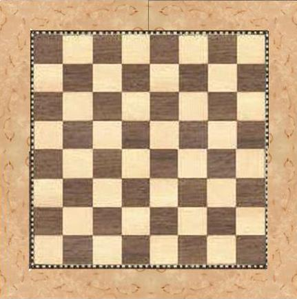 chess board masur birch boarder