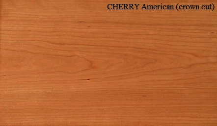 Cherry American crown cut wood veneer