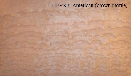 Cherry American crown mottle wood veneer