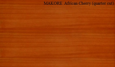 Makore Quartered Wood Veneer