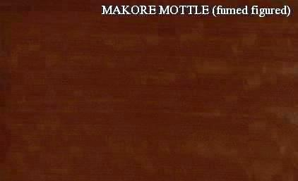 Makore Mottle Fumed Figured