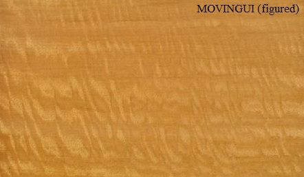 Movingui Figured Wood veneer