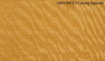 Movingui Strong Figured Wood veneer