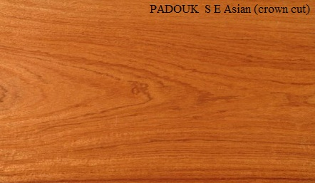 Padauk Asian Crown Wood Veneer