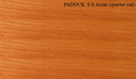 Padauk Asian Quartered Wood Veneer