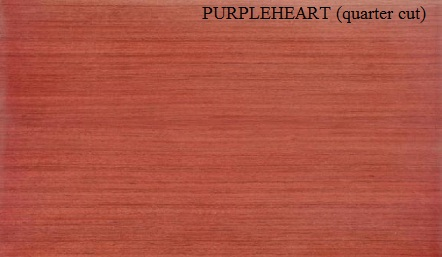 Purpleheart Quartered Wood Veneer