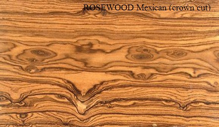 Rosewood Mexican Crown Wood Veneer