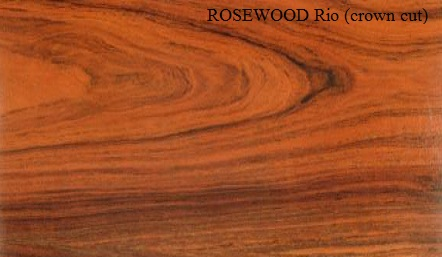 Rosewood Rio Crown Wood Veneer