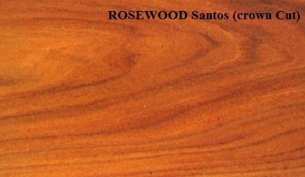 Rosewood Santos crown Wood Veneer