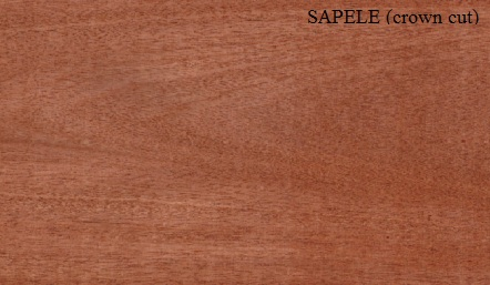 Sapele Crown wood veneer