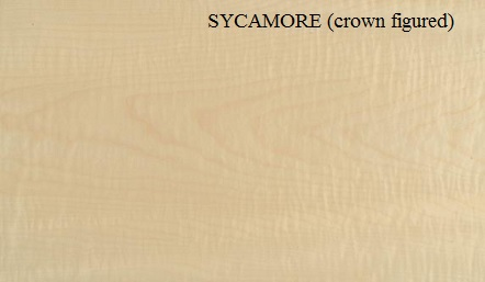 Sycamore Crown Figured wood veneer